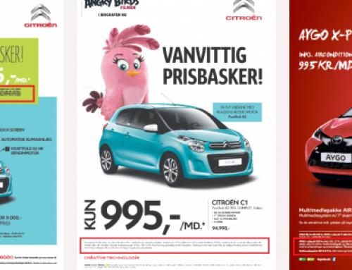 Hvad er der galt med disse reklamer?